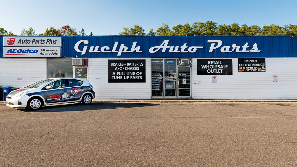 Front of Guelph Auto Parts Store